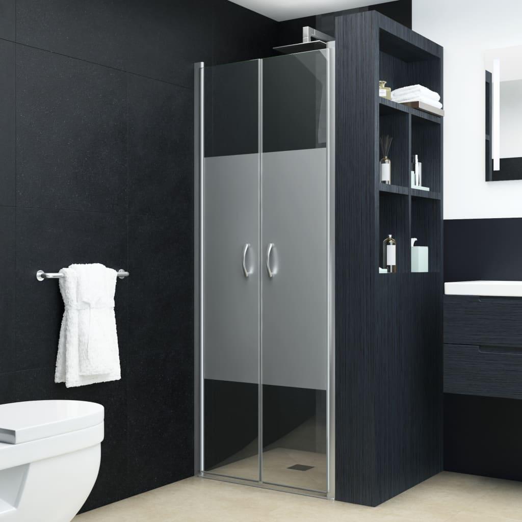 vidaXL félig matt ESG zuhanyajtók 80 x 185 cm