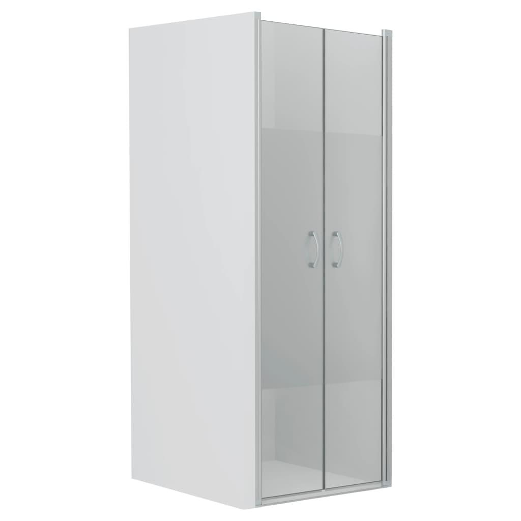 vidaXL Uși cabină de duș, jumătate mat, 90x180 cm, ESG poza 2021 vidaXL