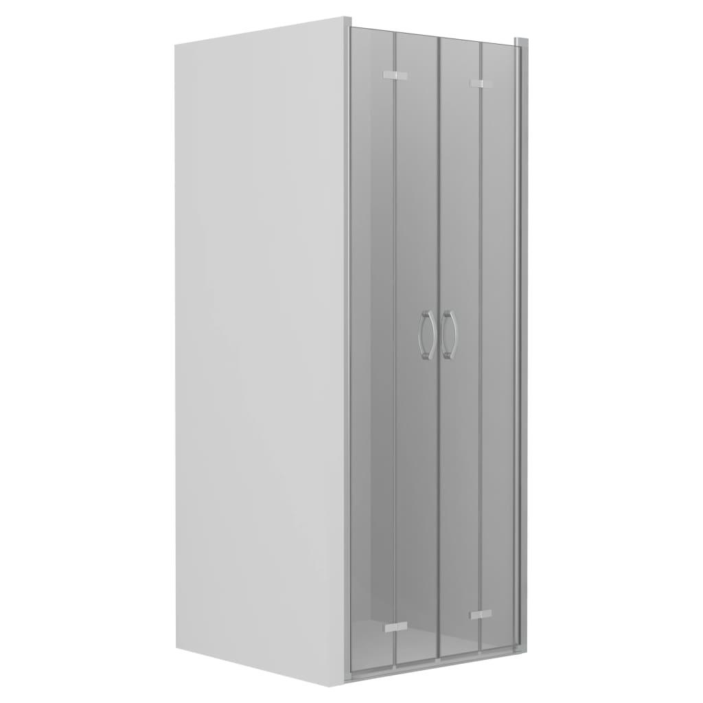 vidaXL Uși dublu-pliabile pentru duș, transparent, 80 x 185 cm, ESG imagine vidaxl.ro