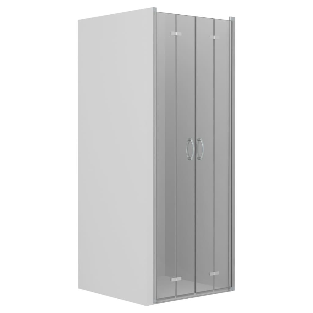 vidaXL Uși dublu-pliabile pentru duș, transparent, 95x185 cm, ESG vidaxl.ro