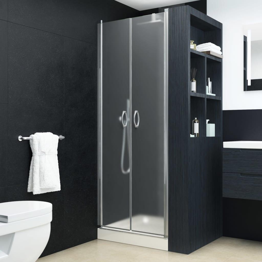 vidaXL Uși cabină de duș, mătuit, 80 x 185 cm, ESG vidaxl.ro