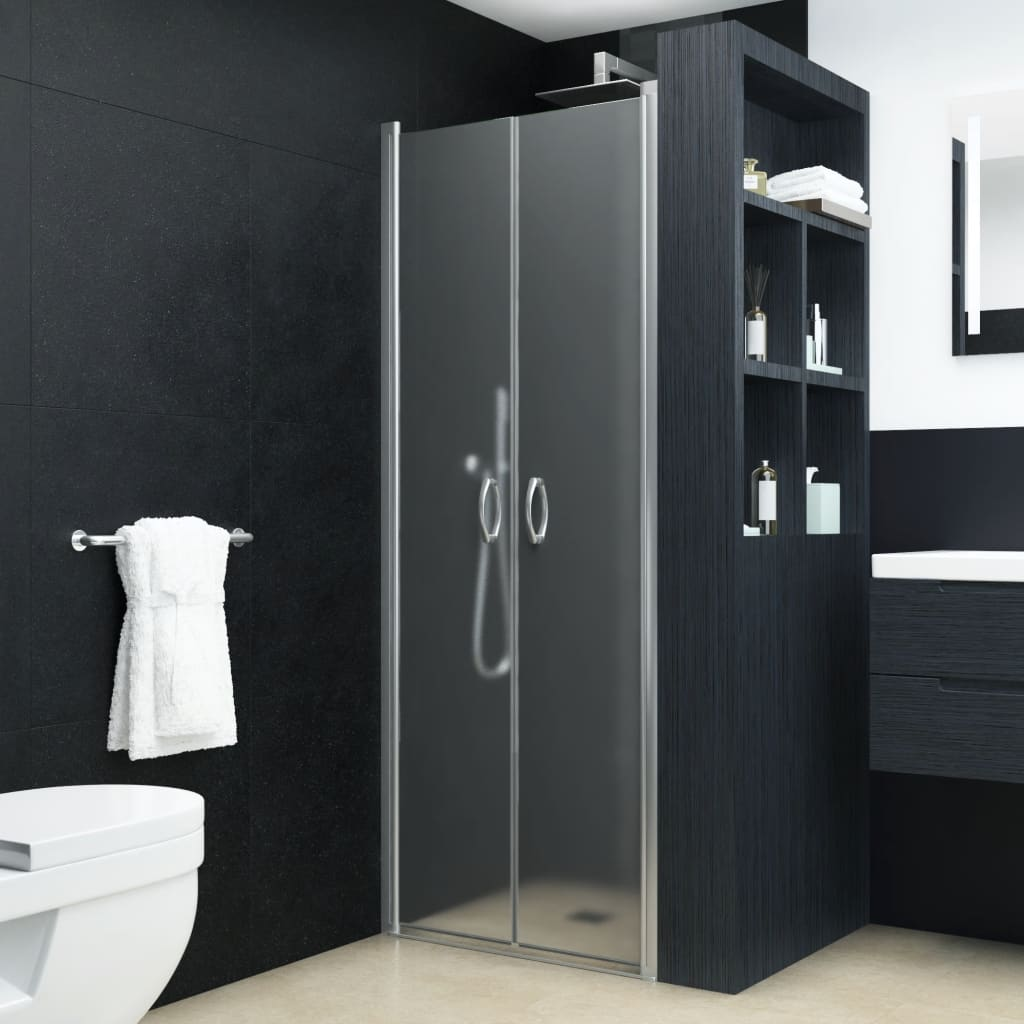 vidaXL matt ESG zuhanyajtók 90 x 180 cm