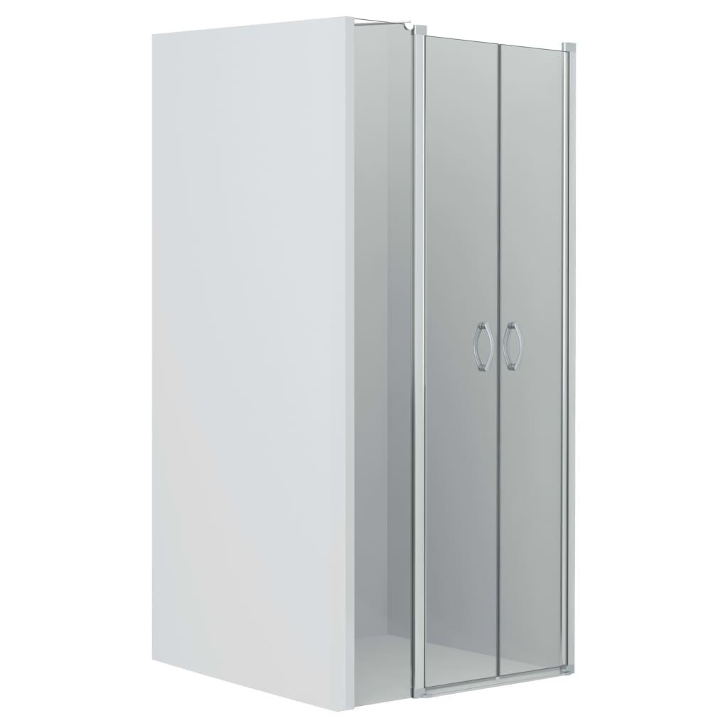 vidaXL Uși cabină de duș, transparent, 100 x 185 cm, ESG imagine vidaxl.ro