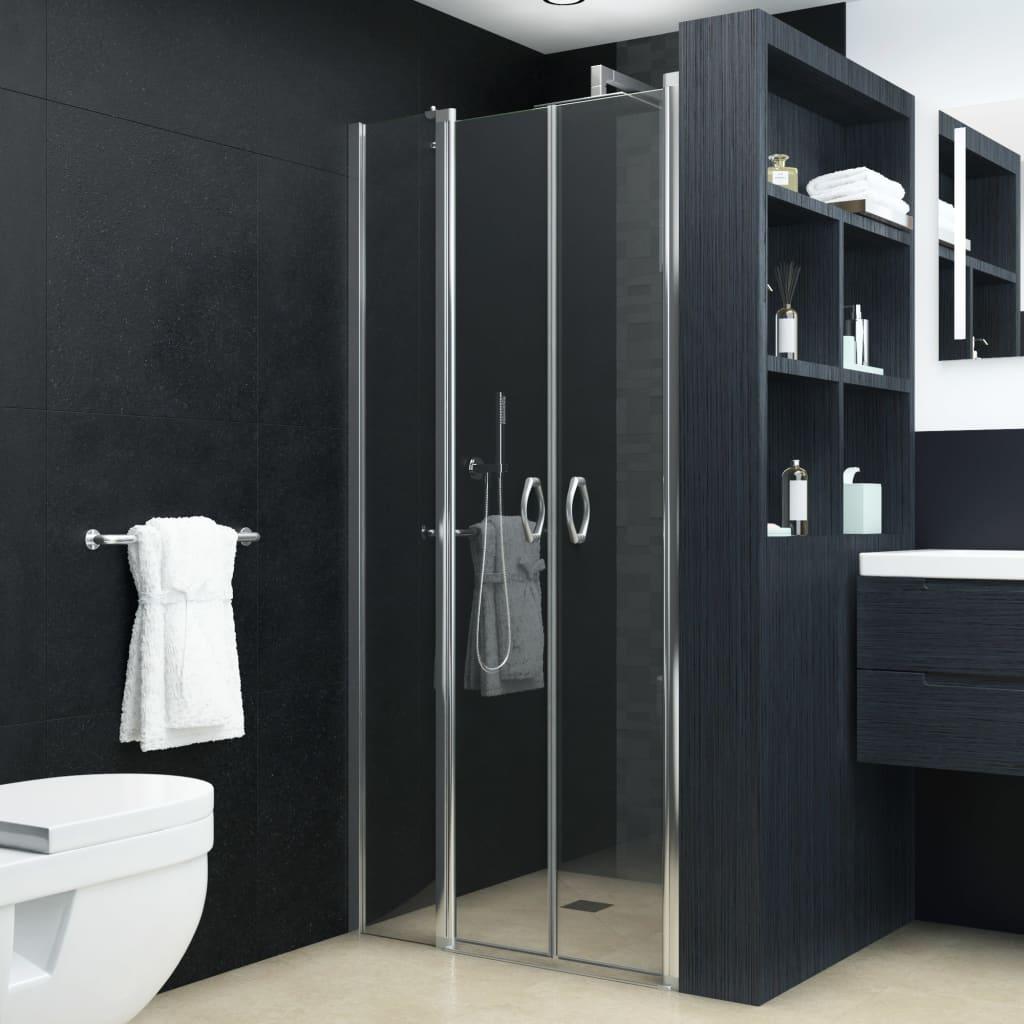 vidaXL átlátszó ESG zuhanyajtók 100 x 185 cm