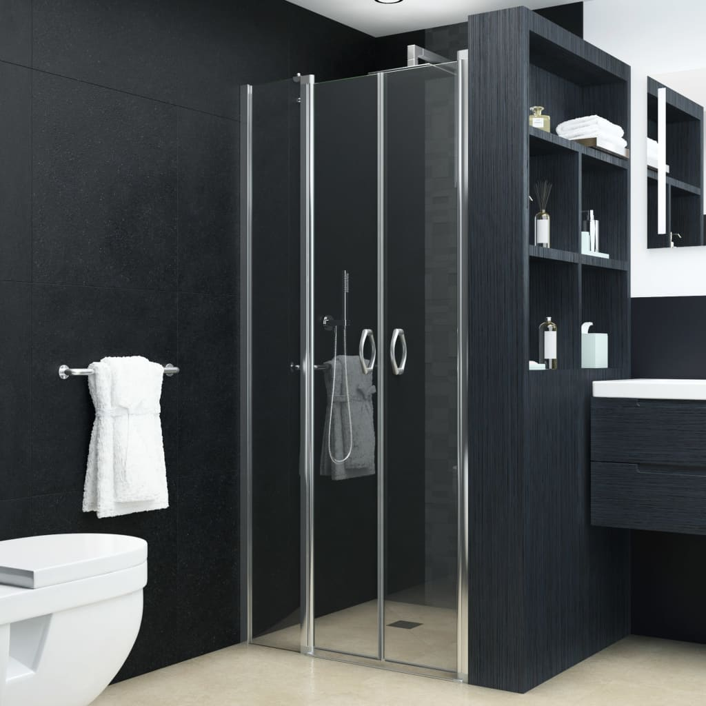vidaXL átlátszó ESG zuhanyajtók 120 x 185 cm
