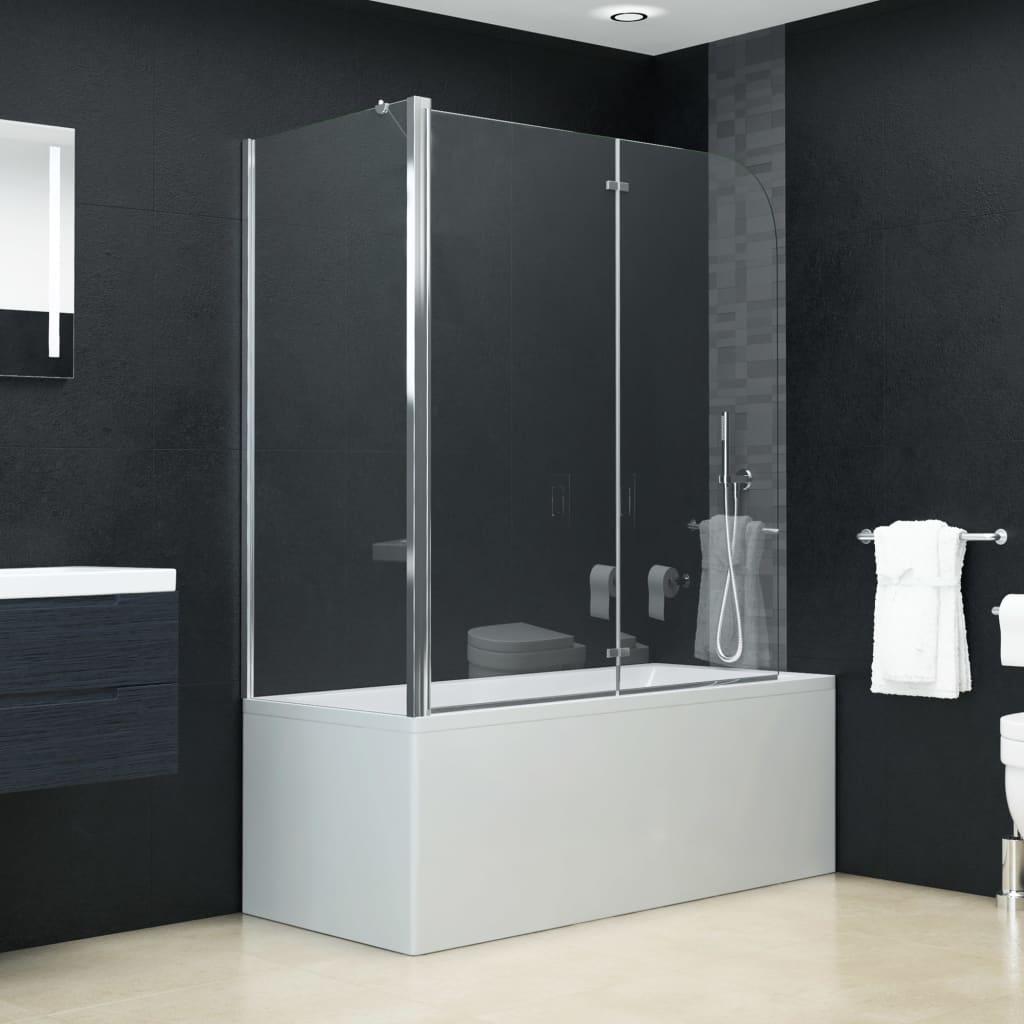 vidaXL Cabină de duș dublu-pliabilă, 120 x 68 x 130 cm, ESG vidaxl.ro