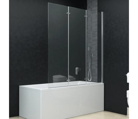 Vidaxl Folding Shower Enclosure 3 Panels Esg 51 2 X54 3 Vidaxl Com