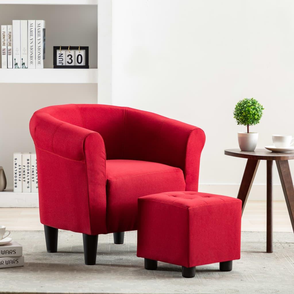 vidaXL Fotoliu, roșu vin, material textil poza vidaxl.ro