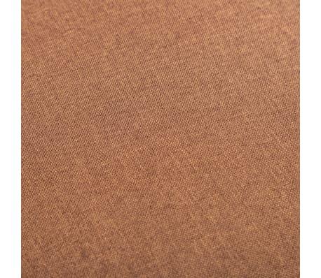 vidaXL Fotel brązowy, tapicerowany tkaniną[5/6]