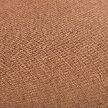 vidaXL Fotel brązowy, tapicerowany tkaniną[3/6]