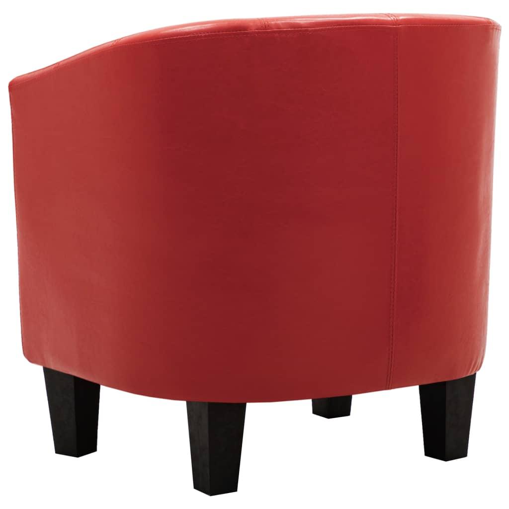 Kuipstoel kunstleer rood