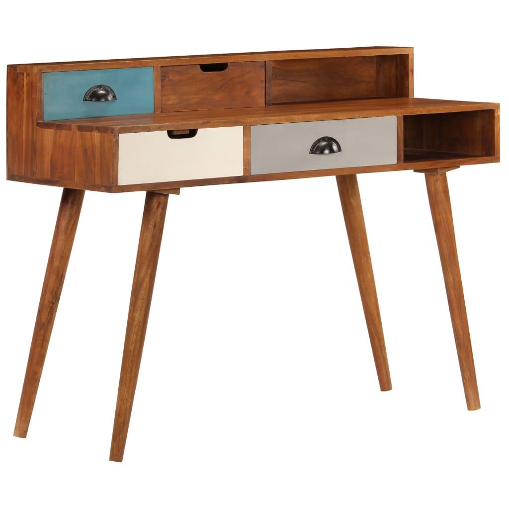 vidaXL Birou de scris, 110x50x90 cm, lemn masiv de acacia imagine vidaxl.ro