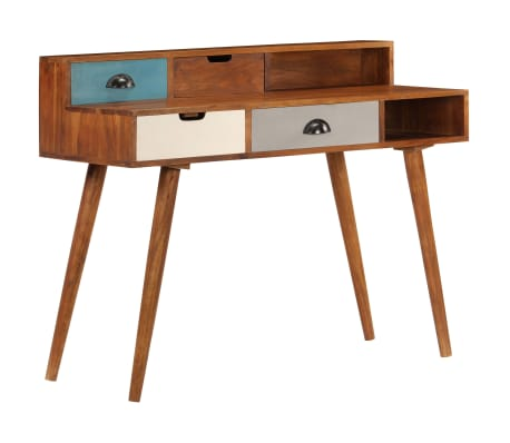 "vidaXL Writing Desk 43.3""x19.6""x35.4"" Solid Acacia Wood"