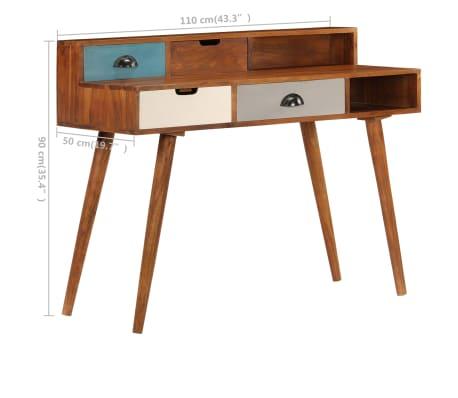 "vidaXL Writing Desk 43.3""x19.6""x35.4"" Solid Acacia Wood[11/15]"