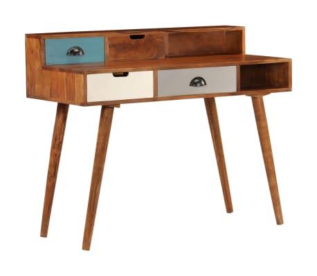 "vidaXL Writing Desk 43.3""x19.6""x35.4"" Solid Acacia Wood[14/15]"