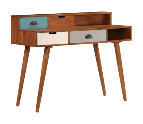 "vidaXL Writing Desk 43.3""x19.6""x35.4"" Solid Acacia Wood[15/15]"