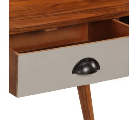 "vidaXL Writing Desk 43.3""x19.6""x35.4"" Solid Acacia Wood[7/15]"