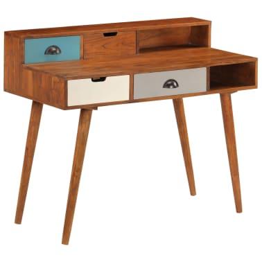 "vidaXL Writing Desk 43.3""x19.6""x35.4"" Solid Acacia Wood[2/15]"