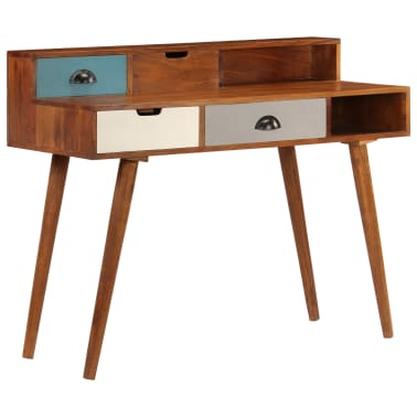 "vidaXL Writing Desk 43.3""x19.6""x35.4"" Solid Acacia Wood[12/15]"