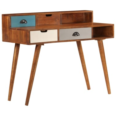 "vidaXL Writing Desk 43.3""x19.6""x35.4"" Solid Acacia Wood[13/15]"