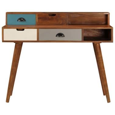 "vidaXL Writing Desk 43.3""x19.6""x35.4"" Solid Acacia Wood[3/15]"