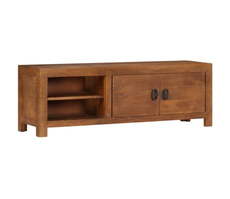 "vidaXL TV Cabinet 47.2""x15.7""x11.8"" Solid Mango Wood[13/13]"