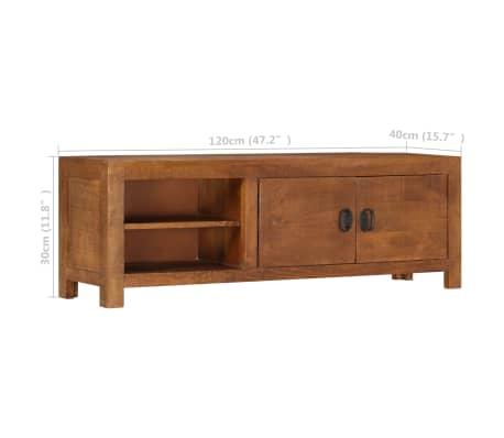 "vidaXL TV Cabinet 47.2""x15.7""x11.8"" Solid Mango Wood[7/13]"