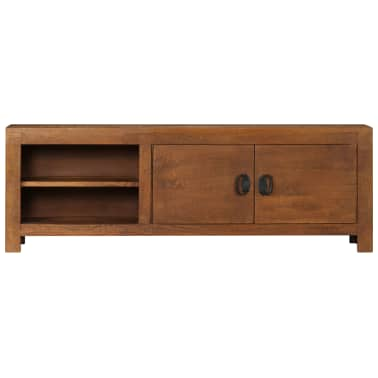 "vidaXL TV Cabinet 47.2""x15.7""x11.8"" Solid Mango Wood[2/13]"