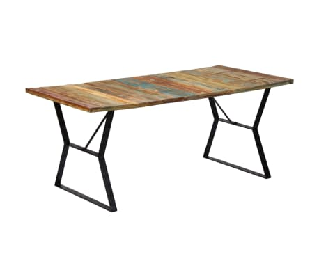 "vidaXL Dining Table 70.8""x35.4""x29.9"" Solid Reclaimed Wood"