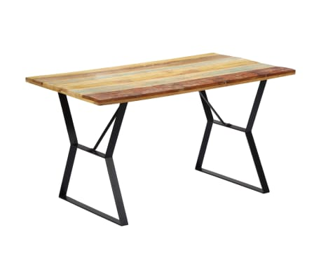 vidaXL Eettafel 140x80x76 cm massief gerecycled hout[1/12]