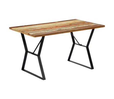 vidaXL Eettafel 140x80x76 cm massief gerecycled hout[12/12]
