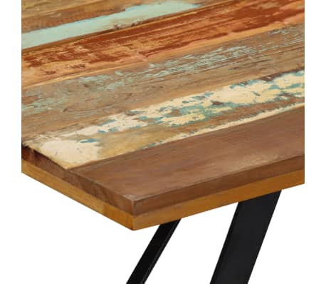 vidaXL Eettafel 140x80x76 cm massief gerecycled hout[5/12]