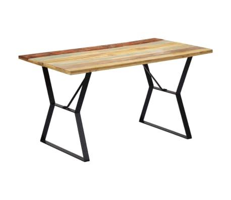 vidaXL Eettafel 140x80x76 cm massief gerecycled hout[8/12]