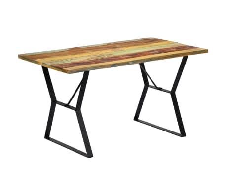 vidaXL Eettafel 140x80x76 cm massief gerecycled hout[9/12]