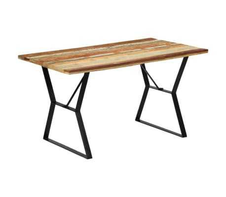 vidaXL Eettafel 140x80x76 cm massief gerecycled hout[10/12]