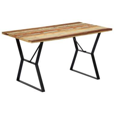 vidaXL Eettafel 140x80x76 cm massief gerecycled hout[11/12]