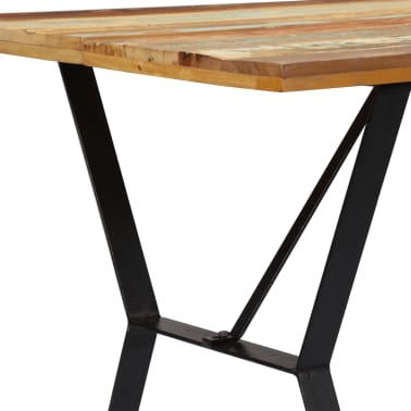 vidaXL Eettafel 140x80x76 cm massief gerecycled hout[4/12]