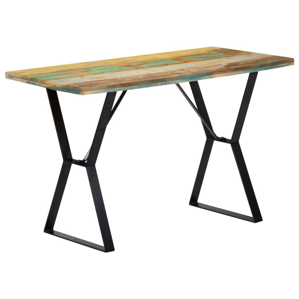 vidaXL Masă de bucătărie, 120 x 60 x 76 cm, lemn masiv reciclat poza 2021 vidaXL