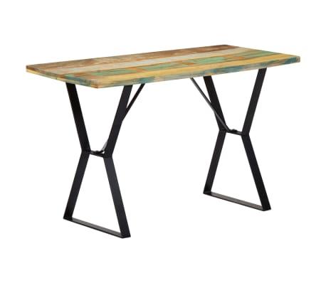 vidaXL Eettafel 120x60x76 cm massief gerecycled hout[9/13]