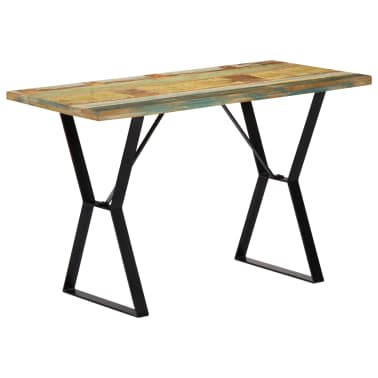 vidaXL Eettafel 120x60x76 cm massief gerecycled hout[12/13]