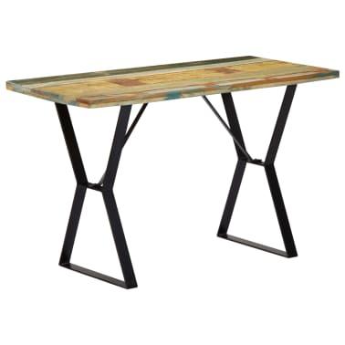 vidaXL Eettafel 120x60x76 cm massief gerecycled hout[13/13]