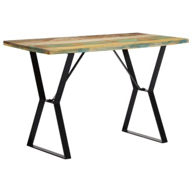 vidaXL Eettafel 120x60x76 cm massief gerecycled hout[3/13]