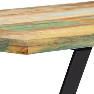 vidaXL Eettafel 120x60x76 cm massief gerecycled hout[6/13]