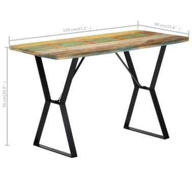 vidaXL Eettafel 120x60x76 cm massief gerecycled hout[8/13]