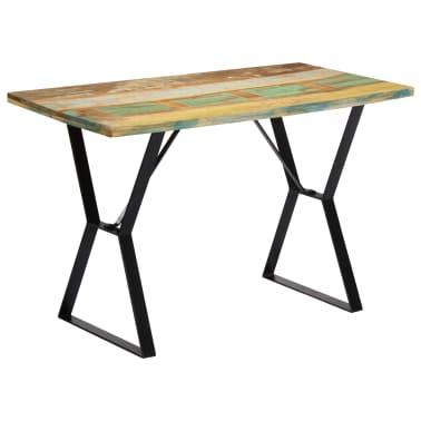 vidaXL Eettafel 120x60x76 cm massief gerecycled hout[10/13]
