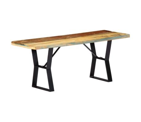 vidaXL Suoliukas, perdirbtos medienos masyvas, 110 cm