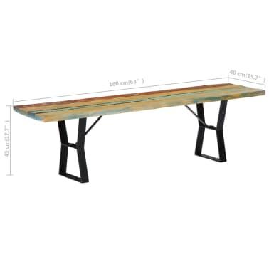 vidaXL Bänk 160 cm massivt återvunnet trä[7/13]