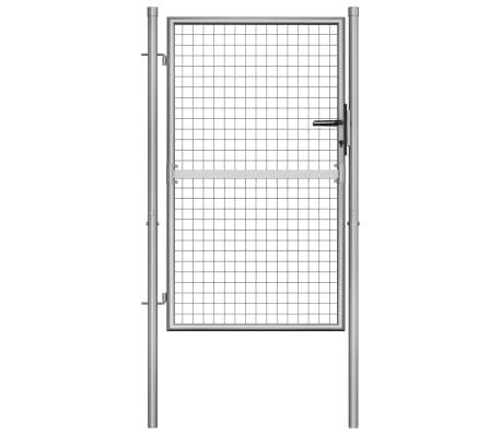 vidaXL Tuinpoort 105x175 cm gegalvaniseerd staal zilverkleurig[1/5]