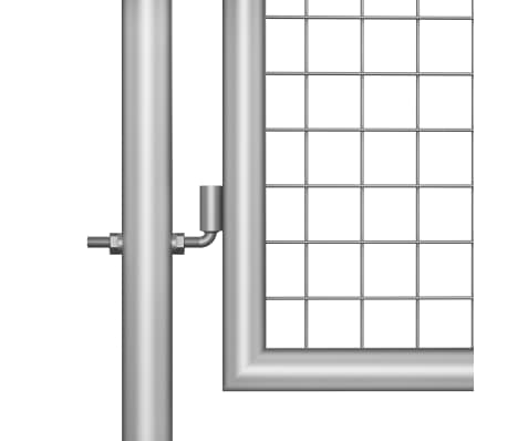 vidaXL Tuinpoort 105x175 cm gegalvaniseerd staal zilverkleurig[3/5]