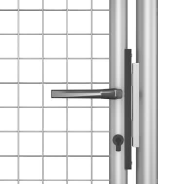 vidaXL Tuinpoort 105x175 cm gegalvaniseerd staal zilverkleurig[4/5]